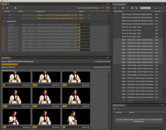 Adobe Media Encoder CS6 - New Features