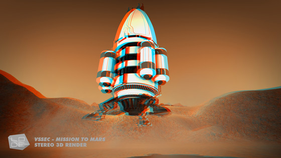 Mars Lander touching down on the Red Planet | VSSEC Mission to mars 3D animation