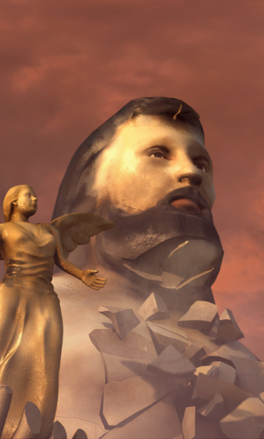 Tony Robinson's London Games Unearthed - 3D Zeus Statue