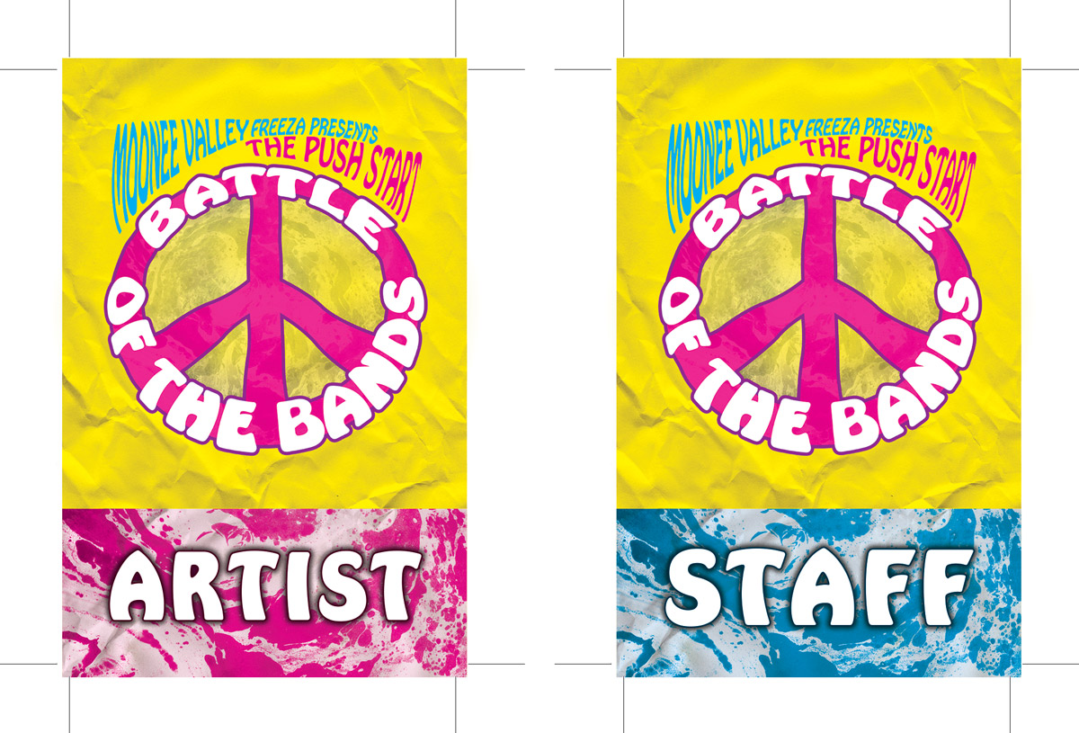 Poster design 60s - Battle Of The Bands 60 S Poster Design Lanyards For Staff And Performing Artists