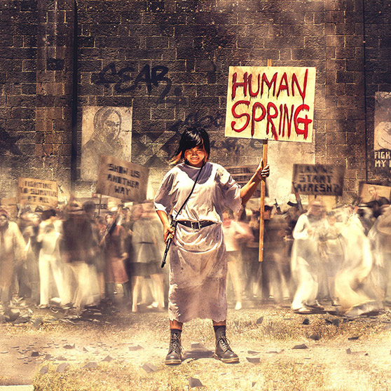 Buchanan - Human Spring - Album Art by Michael Wentworth-Bell
